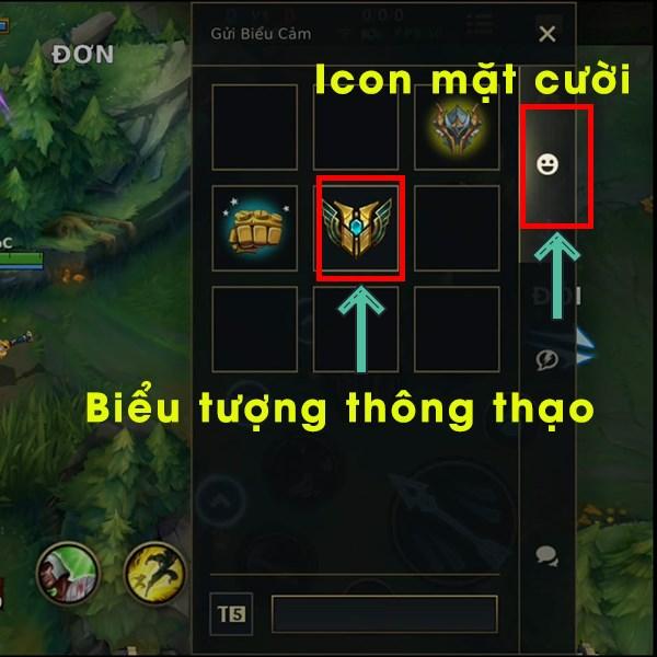 Cách khoe biểu tượng thông thạo tướng Tốc Chiến